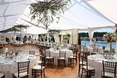 Roche Harbor wedding reception -- oh my... The tent is perfect!!!