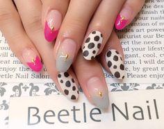 Nail Art - Beetle Nail : 八幡|ダルメシアン柄