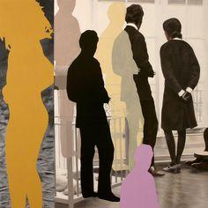 "Saatchi Online Artist: Catlin Rockman; Oil, 2007, Painting ""Among the Narcissi #1"""