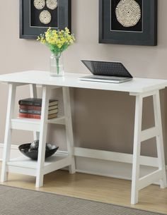 Convenience Concepts Designs2Go Trestle Desk--Guest/spare room