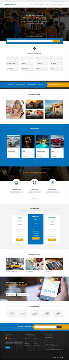 Wisem is beautifully design premium @Joomla template for #directory #listing #website with 2 homepage layouts download now➯ https://themeforest.net/item/wisem-responsive-directory-template-for-joomla/17188438?ref=Datasata