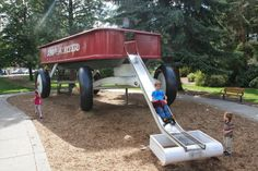 Red Wagon Playground, Kevin Spiering, Spokane Washington | Playscapes