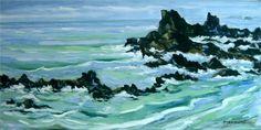 Artwork >> Pierre Vanmansart >> #artworks, #masterpiece, #art, #painting, #water, #ocean