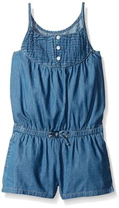 Scout   Ro Girls' Pintuck Denim Romper -- You can get more details at
