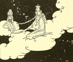 Illustration by Virginia Frances Sterrett, from 'Old French Fairy Tales' , 1920