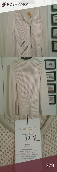 100% Cotton CAbi Roadster Sweater Comfy 100% Cotton Sweater Great Fit Brand New with Tags CAbi Sweaters