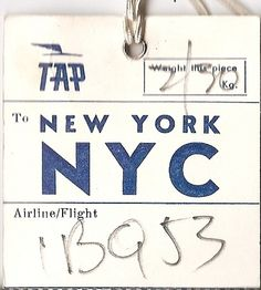 TAP (Portugal Airlines) - NYC New York City - 1968