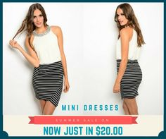 Brandie #minidress for summer with discount from Giorgio West trendy #womensclothing online store