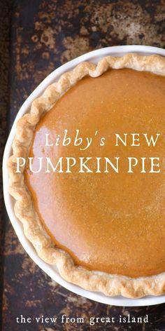 Libby's New Pumpkin Pie Libby's Pumpkin, Homemade Pumpkin Pie, Pumpkin Pie Recipes, Pumpkin Dessert, Pie Dessert, Pumpkin Pie Crust Recipe, Classic Pumpkin Pie Recipe, Recipe For Libbys Pumpkin Pie, Pumpkin Pie Recipe With Whipping Cream
