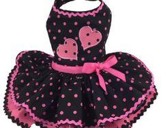 Dog Dress Dog Harness Dress Summer Dress Ruffle Dress for