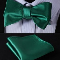 Jacquard Woven Men bow tie, Wedding Butterfly Self Bow Tie Pocket Square Handkerchief BowTie Set Hanky Suit Pocket Handkerchief, Silk Bow Ties, Bow Tie Wedding, Butterfly Wedding, Tie And Pocket Square, Pocket Squares, Jacquard Weave, Green Silk, Suits