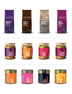The packaging for Equal Exchange products
