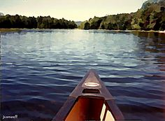 paddling (digital painting from photo)  #adirondack #adirondacks