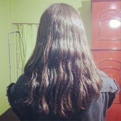 Meu cabelo. Ainda não está grande, mas ok. / My hair.