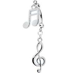 Handcrafted Music Passion Double Mount Belly Ring #bodycandy #music #bellyring $7.99