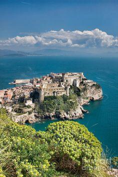 Aragonese Castle in Gaeta, Province of Latina , Lazio region Italy
