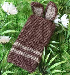 Funda de conejo para iPhone/Smartphone (varios colores) - $70 pesos.