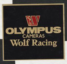 WALTER WOLF RACING F1 TEAM OLYMPUS CAMERAS 1979 ORIGINAL STICKER AUTOCOLLANT GP