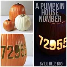 Carve your house number in your pumpkin!