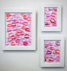 DIY lip print - fun for the bathroom!