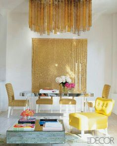 Glam gold and classic neo dining area perfect blend off whites gold and furnitures