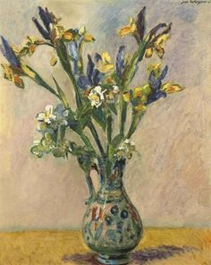 Flowers in a vase, 1940, oil, Jan Wiegers