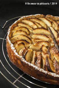 Tarte aux pommes ménagère de Philippe Conticini Issue de mon blog unamourdepatisserie.wordpress.com