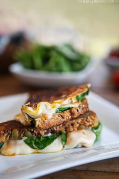 Grilled Cheese with Baby Spinach