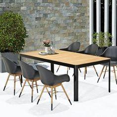 Table FURUSET L209cm +4 chairs HOKKSUND