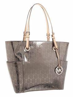 Michael Kors Handbag, Signature Patent East West Tote Nickel