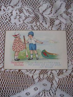Vintage Valentines Day Post Card - Unused  #craftshout0206