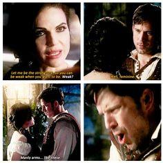 Regina takes no nonsense from no man #OnceUponATime