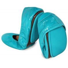 Tieks Ballet Flat Tiek Blue Patent Leather Flats