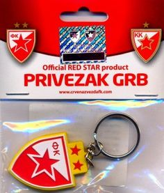 FC Red Star Keychain Red Star Belgrade, Personalized Items, Sports, Hs Sports, Sport