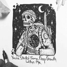 truely, i wouldn't be here without you. you beautifully enlightened soul you. Arte Dope, Dope Art, Art Sketches, Art Drawings, Skeleton Art, Skull Art, Art Inspo, Amazing Art, Wallpaper