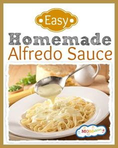 So easy to make yet so many of us reach for the jarred stuff. With this delicious, creamy and foolproof recipe you'll want to make Alfredo sauce more often. The ingredients are simple and nearly always on hand | MOMables.com