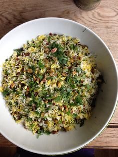 Yotam Ottolenghi's Saffron rice with barberries, pistachio and mixed herbs