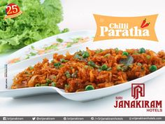 Delicious chilli parotta you will love it and make you feel yummy with the first bite at Srijanakiram Hotels  #paratha #bread #chilli #lunchoftheday