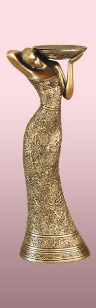 Faux Bronze Woman-C - figurine