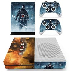 Ghost Xbox one S Skin | Xbox one S decal – Console skins world Console Styling, Xbox One S, Decal, Decals, Sticker, Console Table Styling