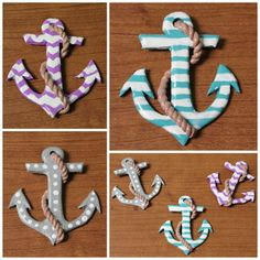 Polymer clay tattoo anchor pendant sculpture by HowClefer on Etsy, Sculpey Premo Kato Fimo Polymer Clay Dolls, Polymer Clay Projects, Polymer Clay Charms, Polymer Clay Creations, Polymer Clay Jewelry, Clay Crafts, Palmer Clay, Arte Peculiar, Biscuit