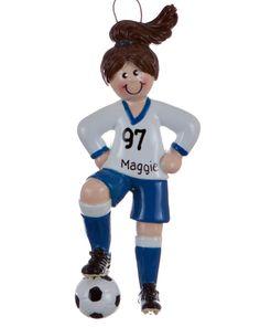 Blue Soccer Player Girl