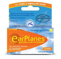 Amazon.com: Kids Earplane Ear Plugs For Airplane Travel Child (ages 1-10): Health & Personal Care