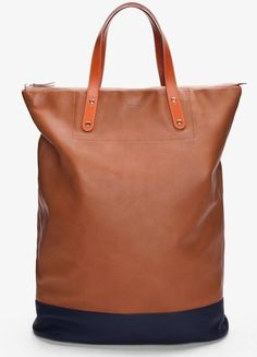 Fancy - Paul Smith Afxa Two-Tone Leather Bag