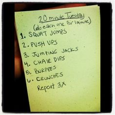 20 minute workout, maybe today try this one and not die half way through