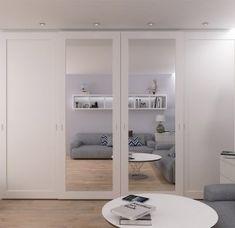 54 Brilliant Wardrobe Ideas For First Apartment Bedroom Decor Mirrored Wardrobe Doors, Sliding Wardrobe Doors, Built In Wardrobe, Closet Doors, Sliding Doors, Wardrobe Ideas, Entry Doors, Patio Doors, Wardrobe With Mirror