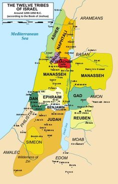I love to study about the 12 Tribes  of Israel.  A great map of the division of their land