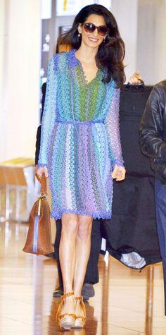 Amal Clooney in Missoni.