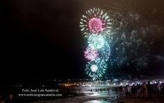 Fuegos artificiales fiestas San Juan 2015 Las palmas de Gran Canaria