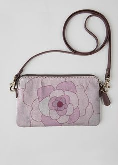 VIDA Leather Statement Clutch - Purple Petals by VIDA Vgj3Lsbbs